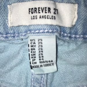 Forever 21 Jeans - FOREVER 21 BOYFRIEND RIPPED JEANS 25 BLUE